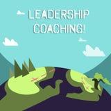 Wort, welches die Text Führungs-Anleitung schreibt Geschäftskonzept für individualisierten Prozess, der einen Führer s errichtet, lizenzfreie abbildung