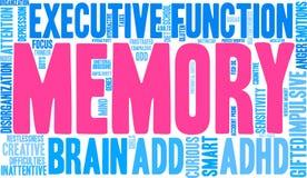 Wort-Wolke des Gedächtnis-ADHD Stockfotografie