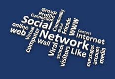 Wort-Wolke des Sozialen Netzes Stockfotografie
