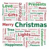 Wort-Wolke - frohe Weihnachten Lizenzfreies Stockfoto