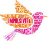 Wort-Wolke Impulsivity ADHD Stockbild