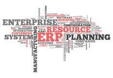 Wort-Wolken-Unternehmens-Ressourcen-Planung lizenzfreie abbildung