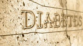 Wortdiabetes auf Wand lizenzfreie abbildung