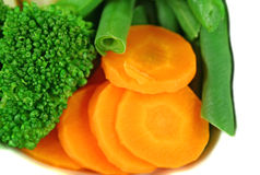 Wortel, Broccoli en Bonen Royalty-vrije Stock Foto