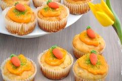 Wortel Cupcake Royalty-vrije Stock Afbeelding