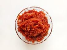 Wortel Zoete Schotel een Indisch Speciaal Occasioneel Voedselpunt Stock Fotografie