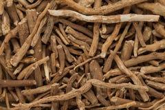 Wortels de organische van Ashwagandha (Withania-somnifera) Royalty-vrije Stock Afbeeldingen