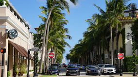 Worth Avenue in Palm Beach, Florida Royalty Free Stock Images