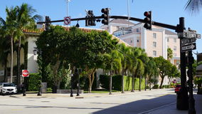 Worth Avenue in Palm Beach, Florida Royalty Free Stock Photos