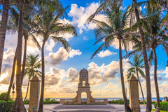 Worth Avenue Palm Beach. Palm Beach, Florida, USA clock tower on Worth Ave royalty free stock photography