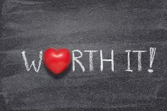 Worth it heart royalty free stock photography