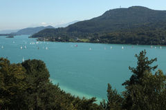 Worthersee Lake in Carinthia, Austria. Royalty Free Stock Images