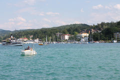 Worthersee lake stock image