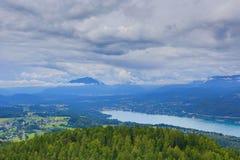 Worthersee sjö Österrike Royaltyfria Bilder