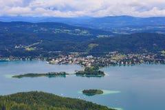 Worthersee sjö Österrike Fotografering för Bildbyråer