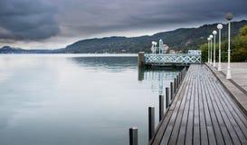 Worthersee sjö Österrike Arkivfoton