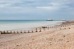 Worthing海滩,西萨塞克斯郡,英国 免版税库存图片