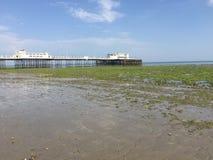 Worthing英国海滩 库存照片