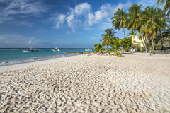Worthing Beach Barbados West Indies. Worthing Beach on the south coast of the Caribbean island of Barbados in the West Indies Stock Photography
