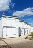 Worthing Beach Huts. Beach huts at West Worthing, UK Stock Images