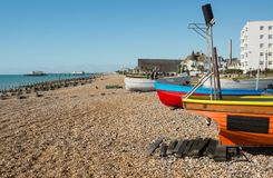 Worthing beach and Seafront, West Sussex, England Stock Photos