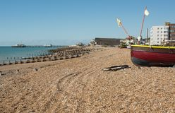 Worthing beach and Seafront, West Sussex, England Stock Photography