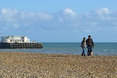 Worthing beach, UK Royalty Free Stock Images