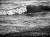 Worthing beach 2. Wave breaking, Worthing, West Sussex Stock Photography