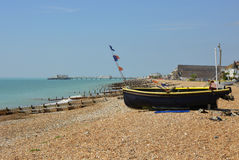 Worthing beach, West Sussex, England Royalty Free Stock Photography