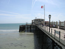 Worthing. Harbor in Worthing to sea and sky Stock Images