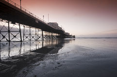 Worthing Pier. West Sussex at Dawn Royalty Free Stock Images