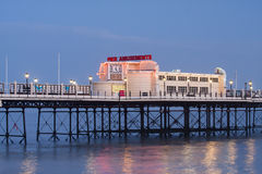 Worthing Pier Amusements early evening Royalty Free Stock Photo