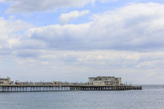 The Worthing Pier. Worthing, APR 24: The Worthing Pier on APR 24, 2016 at Worthing Royalty Free Stock Photos