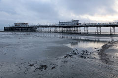 Worthing pier at dusk Royalty Free Stock Photos