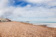Worthing pier at low tide Royalty Free Stock Images