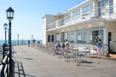 Worthing pier and people. England Stock Photo