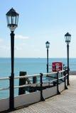 Worthing pier with sea. England Stock Photo