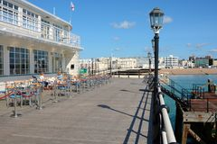 Worthing pier and seafront. England Stock Photos