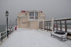 Worthing Pier in the Snow Royalty Free Stock Images