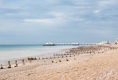 Worthing plaża, Zachodni Sussex, Zjednoczone Królestwo fotografia stock