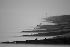 Worthing seafront. In black and white Royalty Free Stock Photography