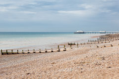 Worthing strand, västra Sussex, Förenade kungariket royaltyfri bild