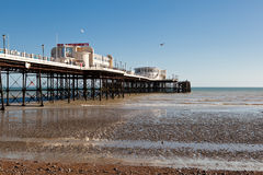 Worthing strand, västra Sussex, mars 17, 2014 Arkivbilder