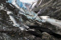 Worthington glaciär, Alaska Arkivbilder