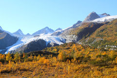Worthington Gletscher Lizenzfreie Stockbilder