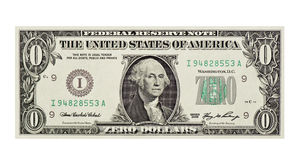 Worthless Dollar Bill Royalty Free Stock Images
