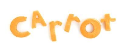 Wortkarotte gemacht vom Frischgemüse Lizenzfreie Stockbilder
