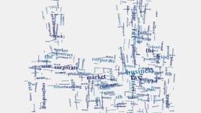 Wortmontagetypographie des Geschäftsunternehmensmarketings in Verbindung stehende Stockfoto