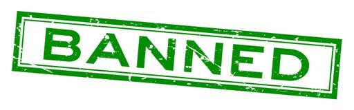 Wortquadratstempel des Schmutzes Grün verbotener auf weißem Hintergrund stock abbildung