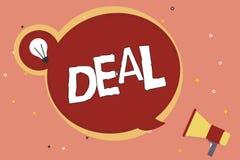 Wortschreibens-Text Abkommen Geschäftskonzept für Take part am Handelshandel eines bestimmten Produktes ist mit betroffen lizenzfreie abbildung